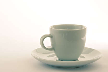 nuance: Empty cup with saucer Stock Photo