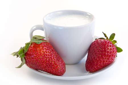 delicacy: Strawberry in sour cream-vitamin delicacy