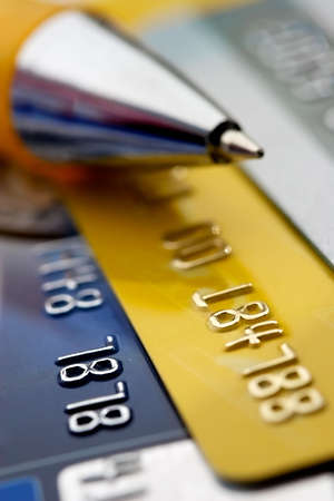 Credit card-financial background Stock Photo - 500961