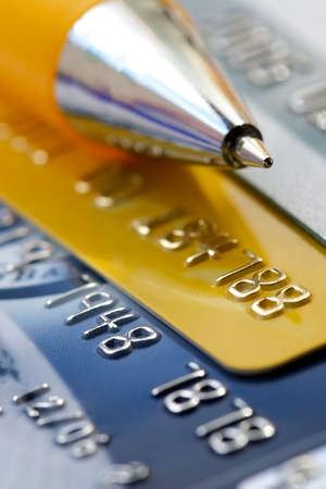 Credit card-financial background photo