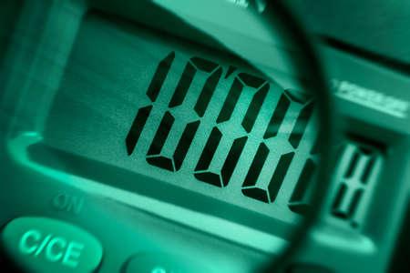 stocktaking: Calculator close up-calculation of increases profit