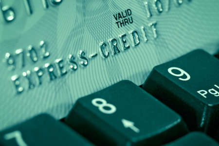 Verification of a credit card through the Internet-modern way of financial operations photo