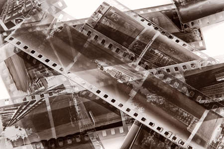 art processing: Vintage film with natural scratchs and a dust of time Stock Photo