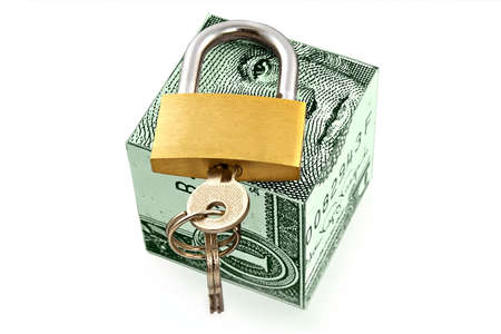 founding: Reliable and safe storage of money-financial concept