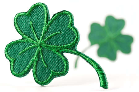 Four leaf green clover-skilful manual silk embroidery photo