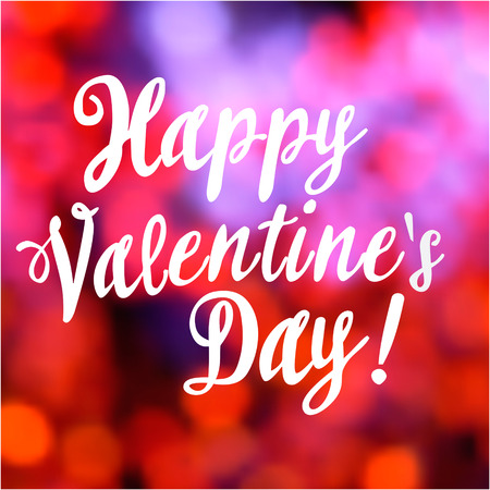 Valentines day vintage lettering bokeh background-model for design of gift packs, patterns fabric, wallpaper, web sites, etc.