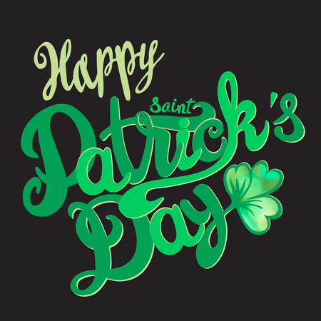 Saint Patrick day lettering design-model for design of gift packs, patterns fabric, wallpaper, web sites, etc. Vector
