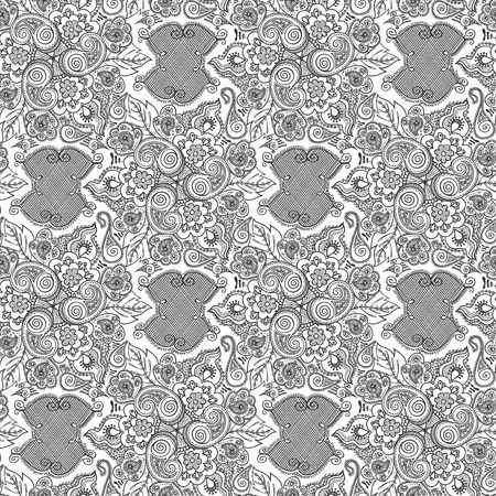 gift packs: Seamless elegant lace pattern-model for design of gift packs, patterns fabric, wallpaper, web sites, etc.