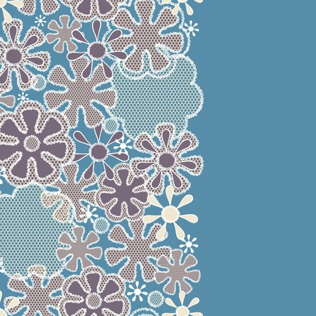 gift packs: Seamless abstract lace floral pattern-model for design of gift packs, patterns fabric, wallpaper, web sites, etc. Illustration