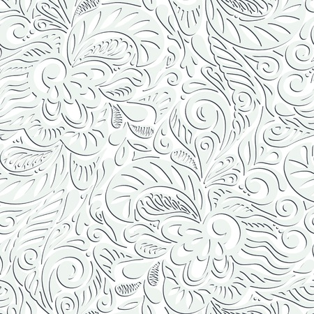gift packs: Seamless abstract curly floral pattern-model for design of gift packs, patterns fabric, wallpaper, web sites, etc.