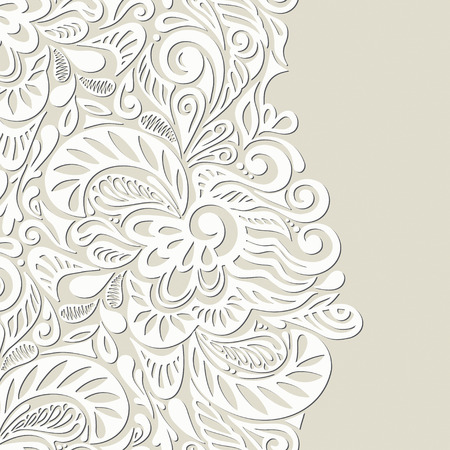 abstract floral: Vintage seamless wallpaper background-model for design of gift packs, patterns fabric, wallpaper, web sites, etc. Illustration