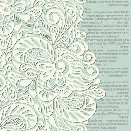 vintage newspaper: Shabby vintage wallpaper background-model for design of gift packs, patterns fabric, wallpaper, web sites, etc.