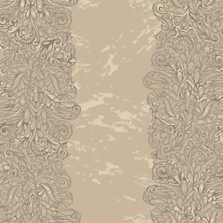 renaissance: Floral design border in renaissance style-model for design of gift packs, patterns fabric, wallpaper, web sites, etc.