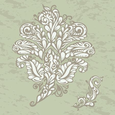 renaissance: Floral design element renaissance style, model for design of gift packs, patterns fabric, wallpaper, web sites, etc.