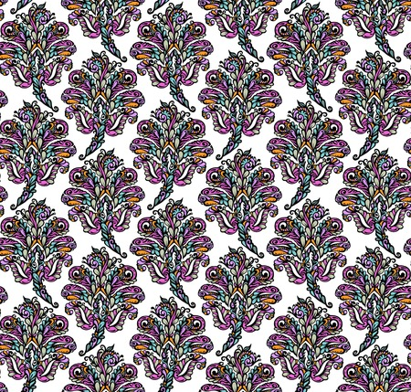 renaissance: Floral seamless pattern in renaissance style-model for design of gift packs, patterns fabric, wallpaper, web sites, etc. Illustration