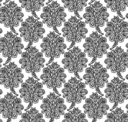 gift packs: Floral seamless pattern in renaissance style-model for design of gift packs, patterns fabric, wallpaper, web sites, etc. Illustration