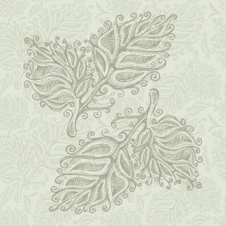 gift packs: Doodle leaf pattern , model for design of gift packs, patterns fabric, wallpaper, web sites, etc.