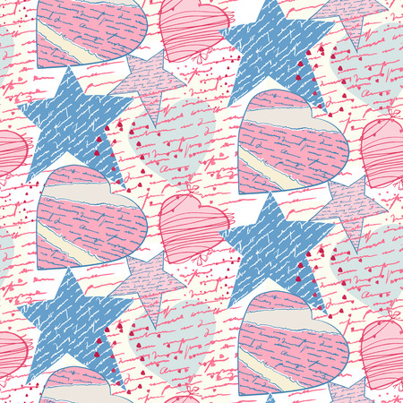 chit: Seamless love letters-pattern imitation handwriting, all of the words are fake, but true feelings!