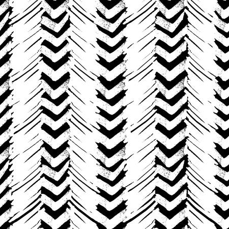 Seamless brush pen hand drawn doodle pattern. Vector background grunge texture Illustration