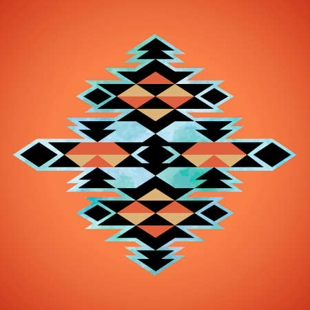 navajo: Navajo aztec textile inspiration pattern. Native american indian tribal  hand drawn art.
