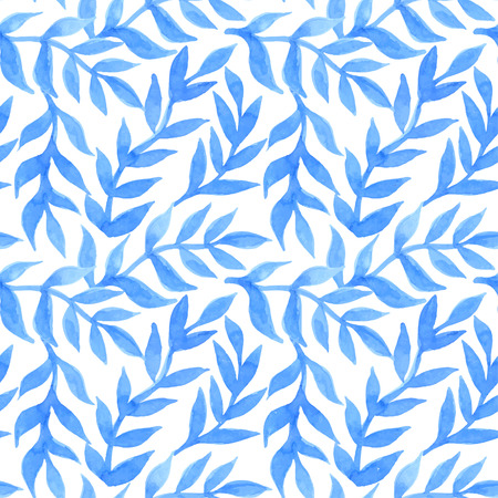 gift packs: Spring leaves seamless watercolor pattern-model for design of gift packs, patterns fabric, wallpaper, web sites, etc.