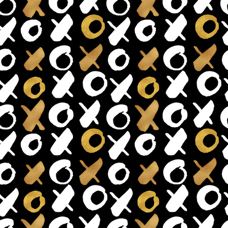 blog: Seamless trendy blog background textures with hand drawn gold and black ink design elements. Vector Eps10 illustration doodle sketch