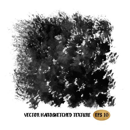 ink illustration: Grunge ink hand drawn texture. Vector Eps10 illustration doodle painting