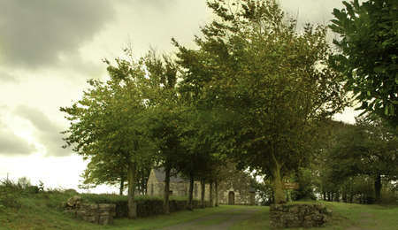 campagne: Old church in Britanny Stock Photo