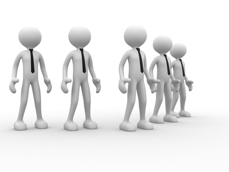 3d people - men, person in team. Leadeship and team  photo
