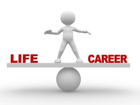 life: 3d les gens - homme, personne - notion d'équilibre dans la vie et la carrière Banque d'images