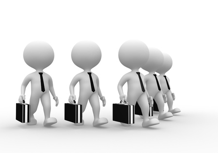 3d people - man, person with a briefcase. Businessman Stock Photo - 21138639