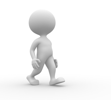 preoccupied: 3d people - man, person walks