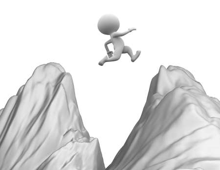 3d people jumping