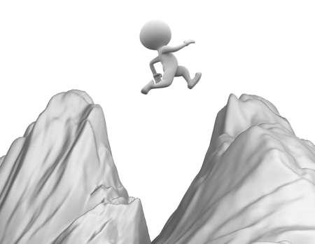 Les gens 3d saut