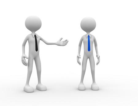 workmate: 3d people - man, person praises a businessman.