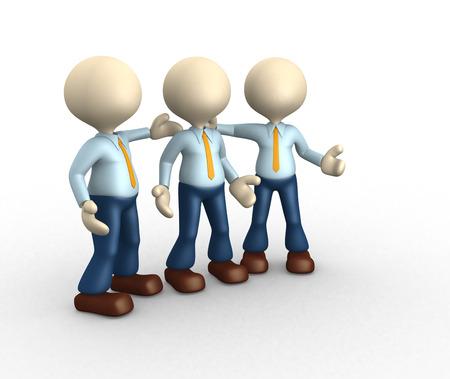 3d people - men, person talking. Concept of dialogue, communication  photo