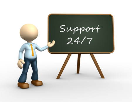 provide: 3d people - man, person with a blackboard. 247 support