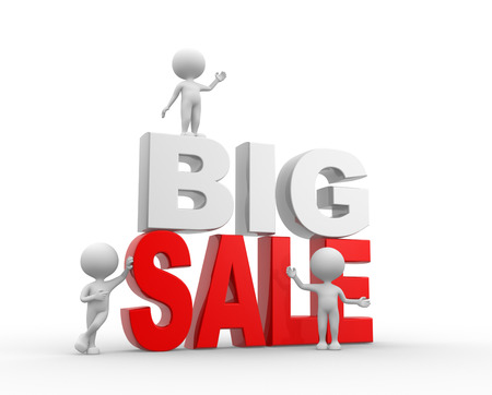 3d people - man, person, and text big sale photo