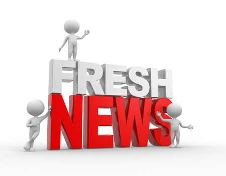 fresh news: 3d people - men, person and text fresh news