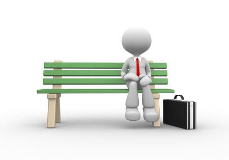 person sitzend: