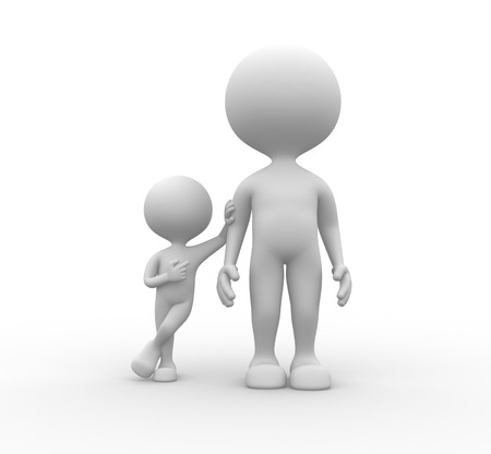 3d people - men, person together. He is the men photo