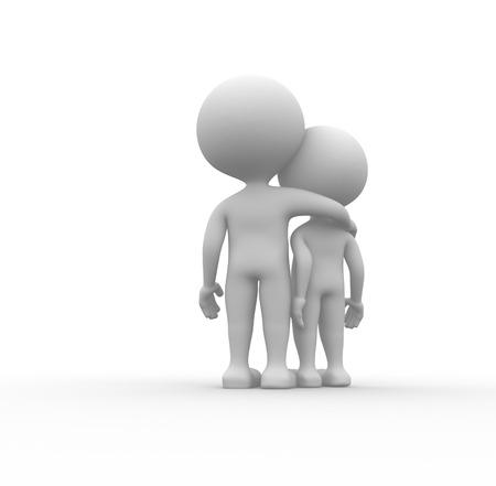descendants: 3d people - men, person speaking. Friends