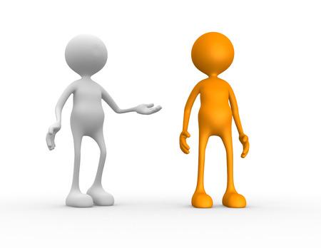 workmate: 3d people - man, person praises a businessman. Recommendation