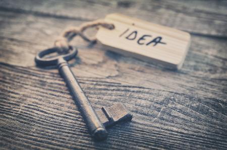 life balance: Key and label. Idea concept