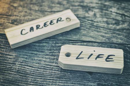 life: Étiquette. Vie ou de carrière Banque d'images