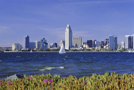 The skyline of San Diego, California as seen from Coronado Island. photo