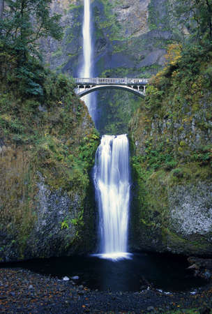 Majestic Multnomah Falls is located in northwest Oregon. photo