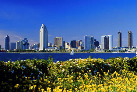 View of the San Diego skyline and bay as seen from Coronado Island. photo