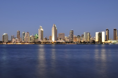 View of the San Diego skyline as seen from Coronado Island. photo