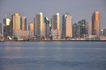 San Diego, California skyline at dusk. photo